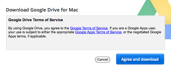 Agree to terms of service.