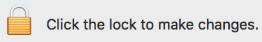 lock icon indicated