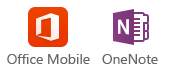 Android Phone and iPhone Office Mobile and OneNote icons